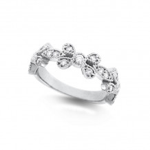 KC Designs 14k White Gold Diamond Stackable Ring - R4050