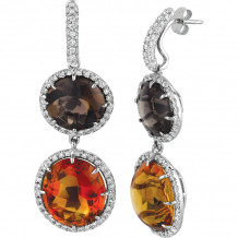 Gemlok Les Bijoux 18k White Gold Diamond & Gemstone Drop Earrings - 70.710