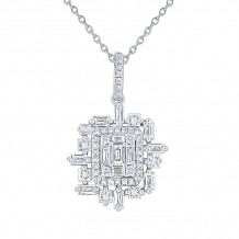 KC Designs 14k Gold Mosaic Diamond Pendant - N7543
