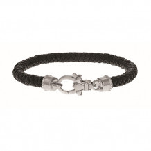 Philip Gavriel Sterling Silver Black Nappa Leather Bracelet - pgcf3259-0725