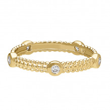 David Connolly 14k Yellow Gold Stackable Ring - 1693
