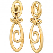 Gemlok 18k Yellow Gold Drop Earrings - 76.096