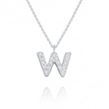 KC Designs 14k White Gold Initialss Initials Necklace - N8875-W