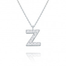 KC Designs 14k White Gold Initialss Initials Necklace - N8875-Z