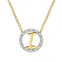 KC Designs 14k Two Tone Gold Initialss Initials Necklace - N1820-I