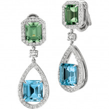 Gemlok Platinum Les Bijoux Platinum Gemstone Drop Earrings - 70.948AQ