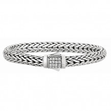 Philip Gavriel Sterling Silver Wide Wheat Bracelet - pgcx709-0750