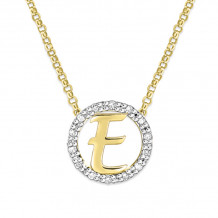 KC Designs 14k Two Tone Gold Initialss Initials Necklace - N1820-E