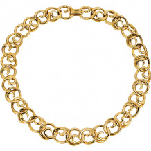 Gemlok 18k Yellow Gold Necklace - 66.043