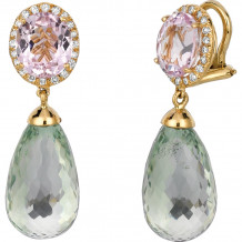 Gemlok Les Bijoux 18k Yellow Gold Diamond & Gemstone Drop Earrings - 70.716KZ