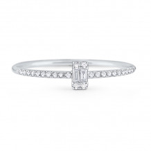 KC Designs 14k White Gold Stack And Style Diamond Stackable Ring - R7844