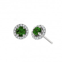 David Connolly 14k White Gold Gemstone Earrings - 8114EMW