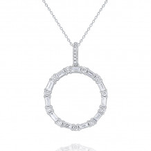 KC Designs 14k White Gold Mosaic Diamond Pendant - N7451