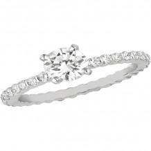 Gemlok 18k White Gold Minilok Diamond Straight Engagement Ring - 6.905SOL
