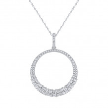 KC Designs 14k White Gold Mosaic Diamond Pendant - N7437