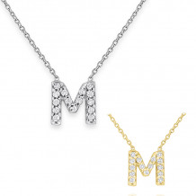 KC Designs 14k Yellow Gold Initialss Initials Necklace - N13095-M