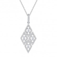 KC Designs 14k White Gold Mosaic Diamond Necklace - N7397