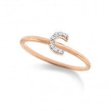 KC Designs 14k Rose Gold Initialss Initials Ring - R3190-C