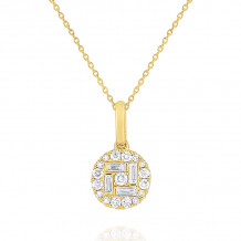 KC Designs 14k Yellow Gold Mosaic Diamond Pendant - N7434