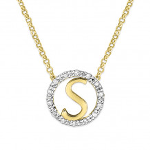 KC Designs 14k Two Tone Gold Initialss Initials Necklace - N1820-S