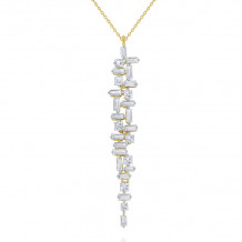 KC Designs 14k Yellow Gold Mosaic Diamond Necklace - N7606
