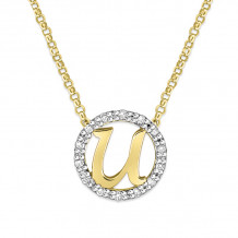 KC Designs 14k Two Tone Gold Initialss Initials Necklace - N1820-U