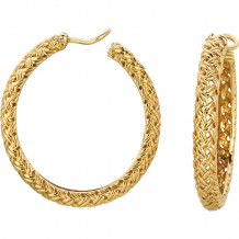 Gemlok La Vannerie 18k Yellow Gold Hoop Earrings - 76.092