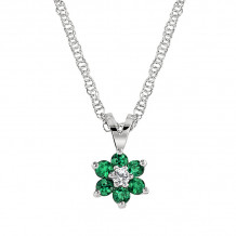 David Connolly 14k White Gold Emerald Necklace - 5880EMW