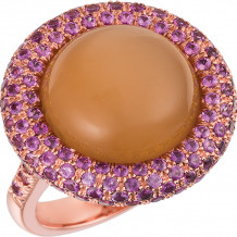 Gemlok 18k Rose Gold Les Bijoux Gemstone Ring - 35.714PKS