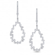KC Designs 14k White Gold Mosaic Diamond Drop Earrings - E7549
