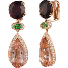 Gemlok Les Bijoux 18k Yellow Gold Gemstone Drop Earrings - 70.713