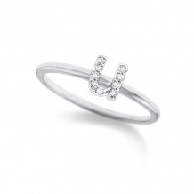 KC Designs 14k White Gold Initialss Initials Ring - R3190-U