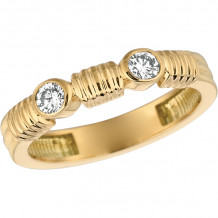 Gemlok Tri-Color 18k Gold Minilok Diamond Ring - 5.510D2