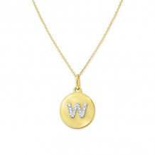 KC Designs 14k Yellow Gold Initialss Initials Necklace - N11400-W