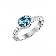 David Connolly 14k White Gold Topaz Ring - 1410BTW