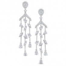 KC Designs 14k White Gold Cascade Diamond Chandelier Earrings - E8736
