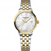 Raymond Weil Toccata Ladies Two Tone Stainless Steel and Diamond Watch - 5988-STP-97081