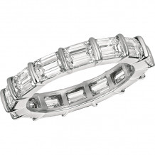 Gemlok Platinum Les Classiques Diamond Eternity Wedding Band - 6.993