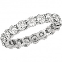 Gemlok Platinum Minilok Diamond Eternity Wedding Band - 2.002