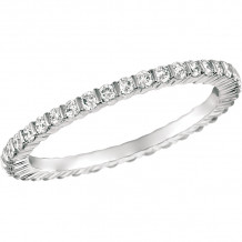 Gemlok 18k White Gold Minilok Diamond Eternity Wedding Band - 6.900D