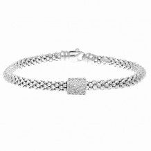 Philip Gavriel Sterling Silver and Diamond Popcorn Bracelet - pgcf3145-07