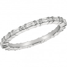 Gemlok Platinum Minilok Diamond Eternity Wedding Band - 6.937