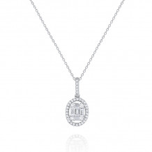 KC Designs 14k White Gold Mosaic Diamond Pendant - N4782